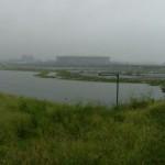 越流前の遊水池