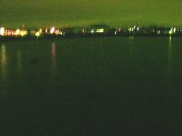 午前0時頃、越流後の遊水池