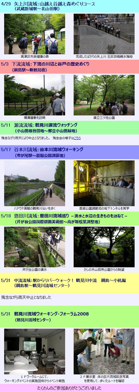 4/29~5/31 「鶴見川流域ウォーキング月間2008」開催!