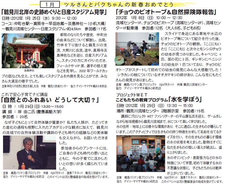 鶴見川流域センター イベント報告2012年1月