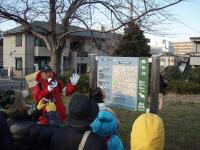 新春富士見ウォークで活躍するリバーガイド