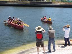 7月17日(日)「河口干潟の生きもの観察&わんぱくカヌー体験」実施しました