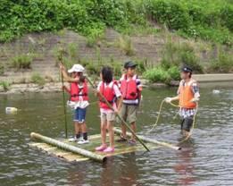7月18日(月・祝) いかだで遊ぼう谷本川2011報告