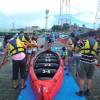 水マスサポーターによる操船体験のようす