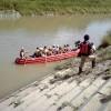 水害を意識したEボート体験