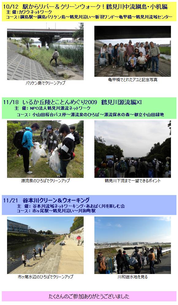 鶴見川流域クリーン&ウォーク2009 ~秋のキャンペーン~