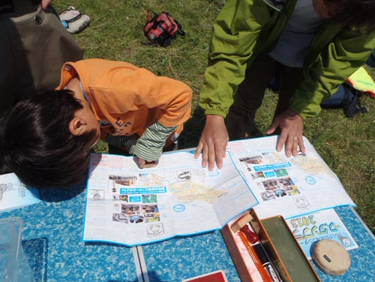 スタンプラリーで鶴見川流域を楽しく学ぼう!(2013年度のようす)